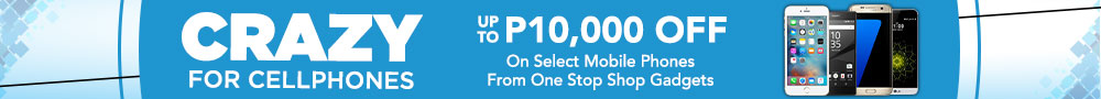 Get up to P10,00 OFF on mobile phones!