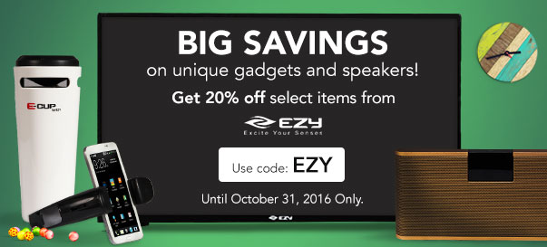20% OFF on unique gadgets and speakers!