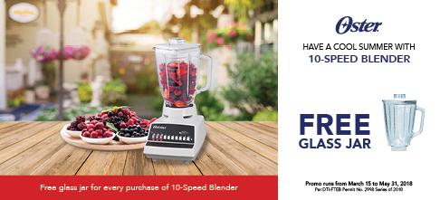 Oster Appliances: Free Glass Jar