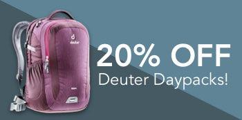20% OFF on Deuter Backpacks