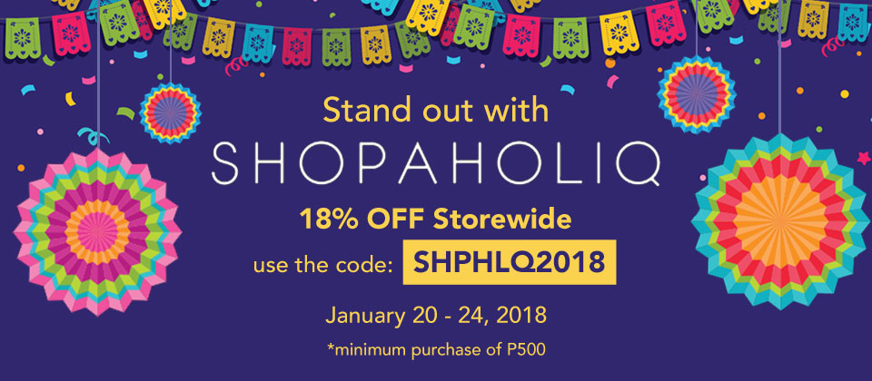 Shopaholiq 18% off new years treat