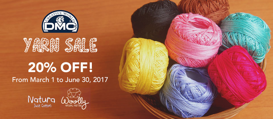 DMC Yarn Sale!