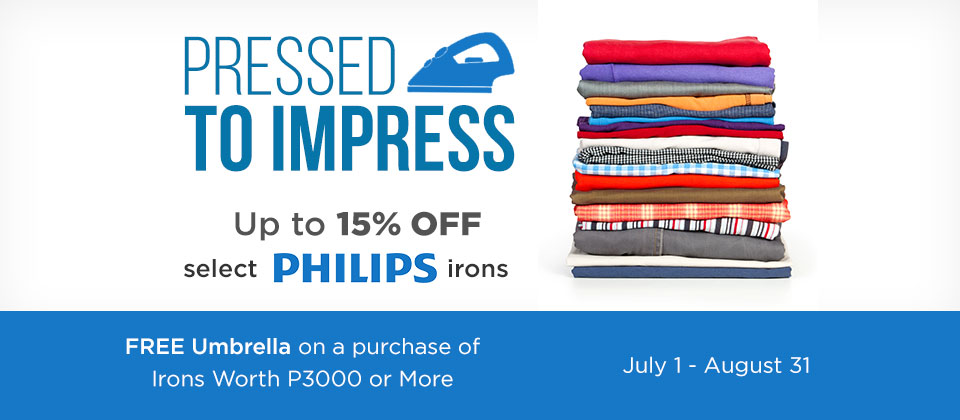 Get a FREE umbrella for every purchase worth P3,000