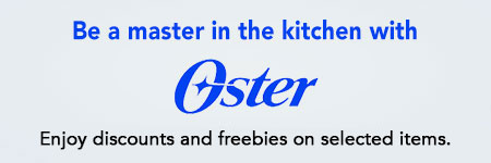 Discounts and freebies from Oster Appliances!