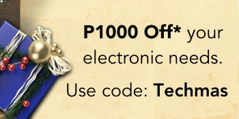Beat the Christmas Rush with P1000 OFF on Electronics