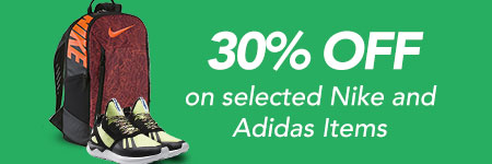 Up to 30% OFF Nike and Adidas