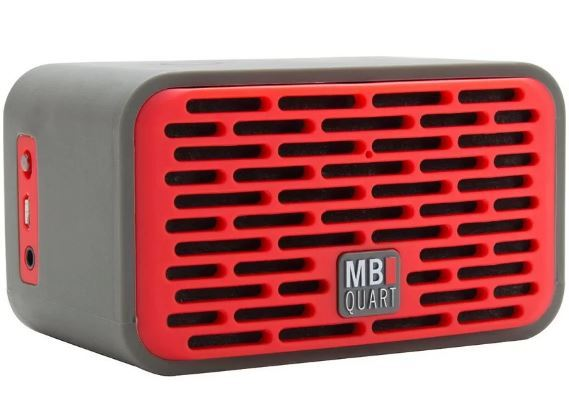 Qub Four Bluetooth Speaker (Red) plus Boompods Headpods (Wireless)