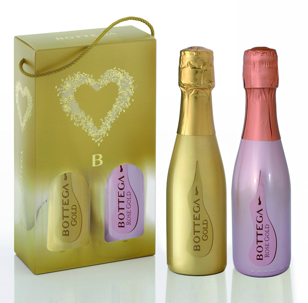 Bottega Sparkling Wine Set- Rose & Gold