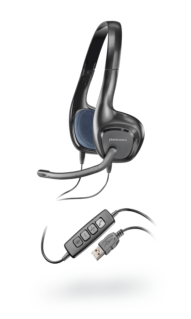 Plantronics Audio 628 USB Stereo Headset (Black)