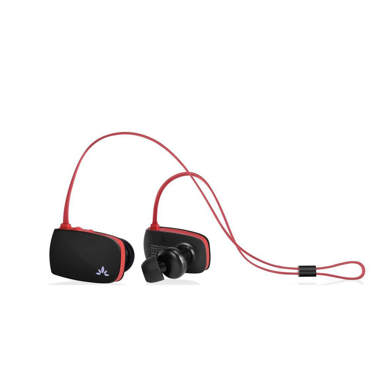 Avantree BTHS-AS8P-BLK Sacool Pro Bluetooth Stereo In Ear Headset with Microphone (Black/Red)