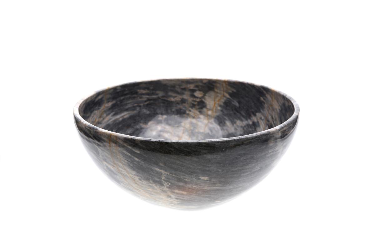 "Marmol Stonework Marble Oval Bowl 10"" Blue Century (M10BW-BC)"