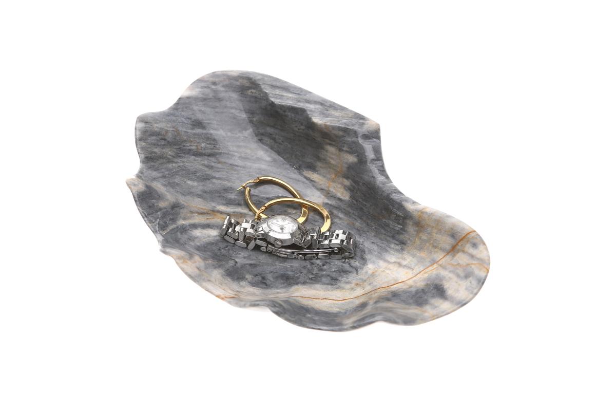 "Marmol Stonework Marble Shell Tray 5"" Blue Century (M5SHTR-BC)"