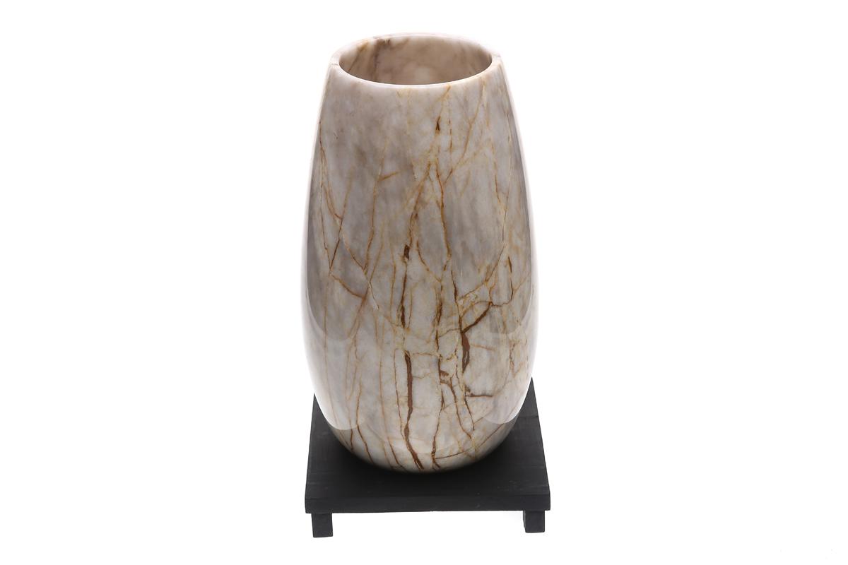 Marmol Stonework Marble Vase with Wide Round Bottom Century (MBVTV-C)