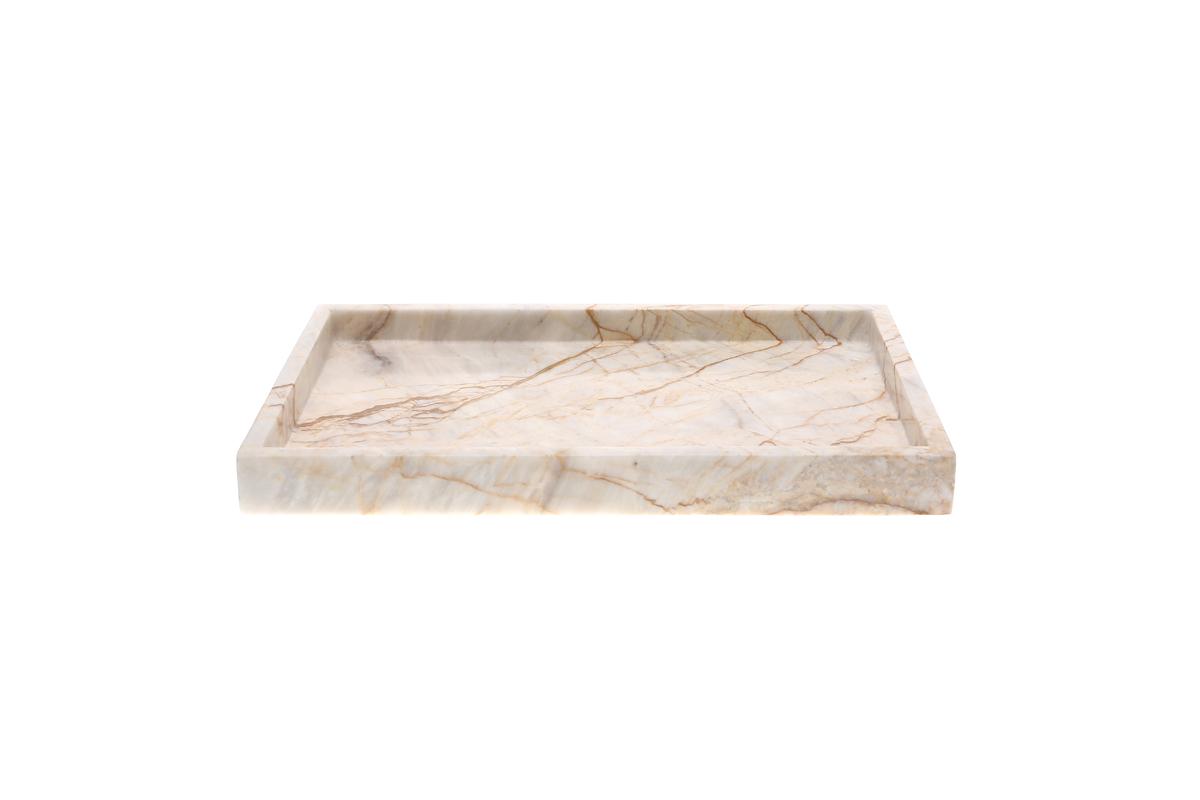 Marmol Stonework 10x14 Rectangular Marble Tray Century (MRT-1014-C)
