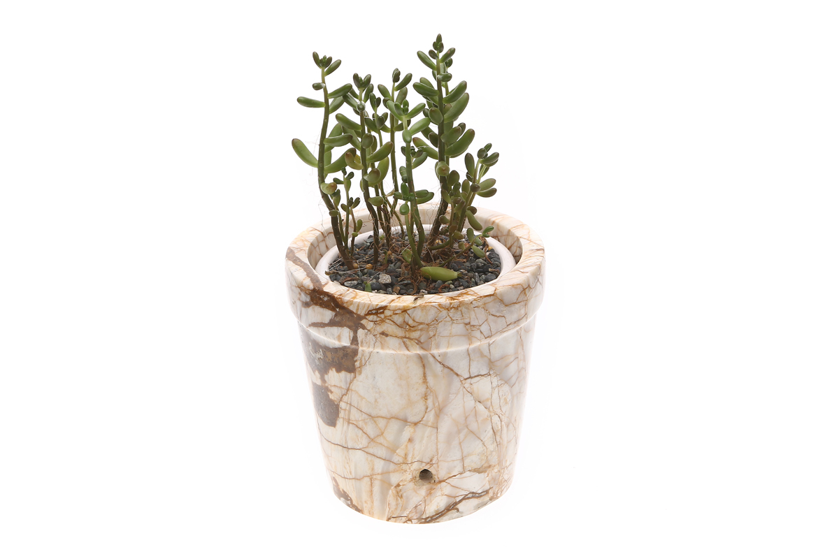 Marmol Stonework Marble Planter Pot (M1PLNTR-C)