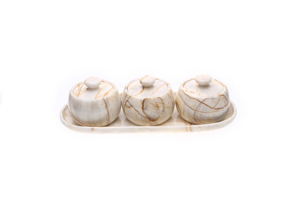 Marmol Stonework Marble Coffee Creamer Set Century (MCCS-C)