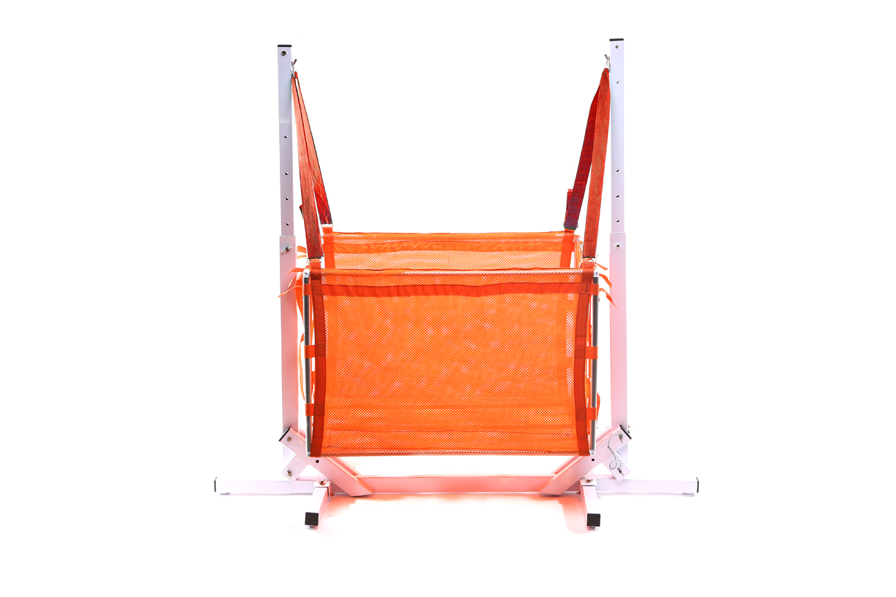 Jong Duyan Swinging And Folding Baby Crib (Orange with White Base)
