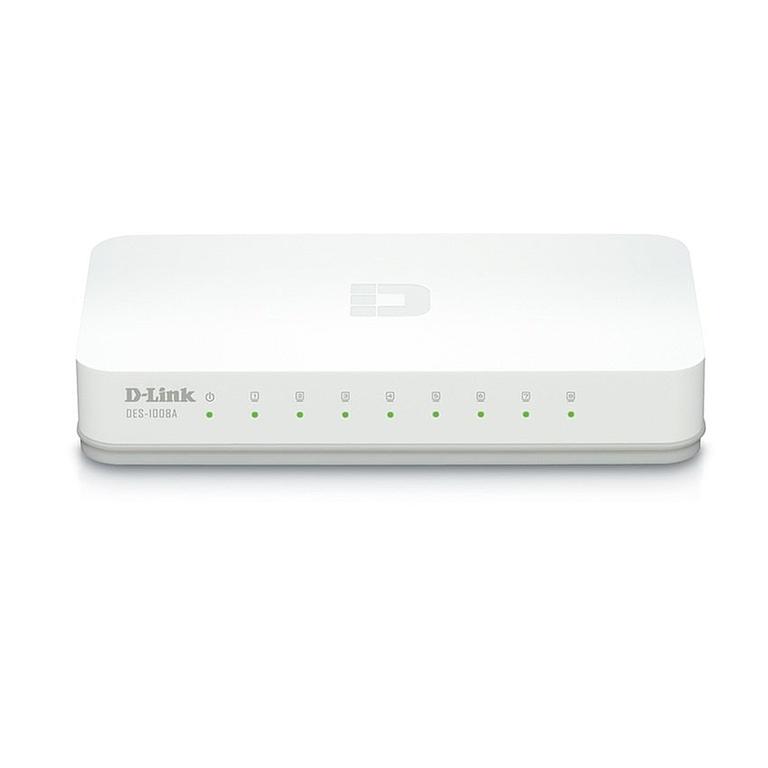 D-Link DES-1008A /8-Port 10/100 Desktop Switch (White)