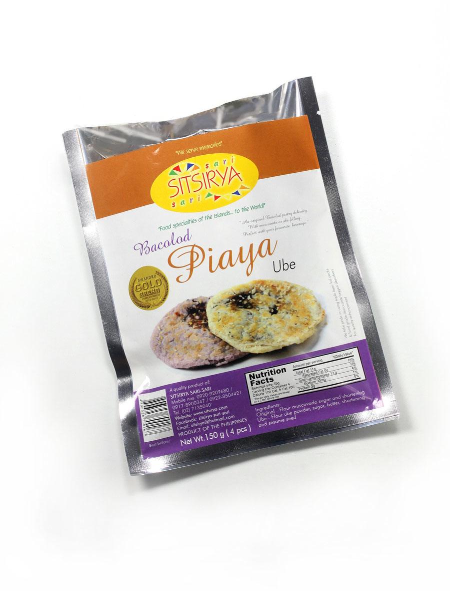 Sitsirya Bacolod Piaya Ube 4s / pack (4806526700167) - (In Packs of 2)