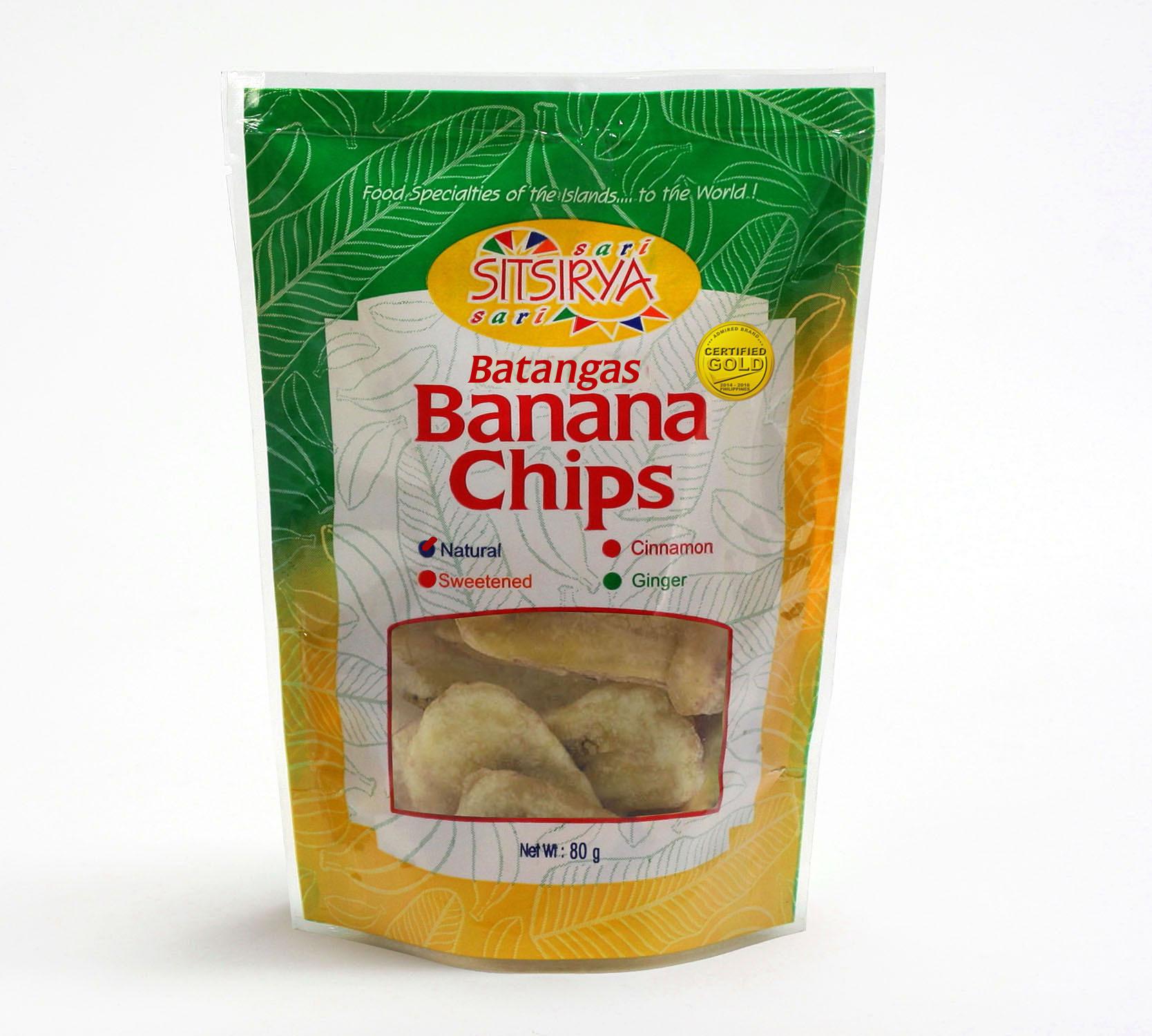 Sitsirya Batangas Banana Chips Natural pouch (4806526700938) - (In Packs of 3)