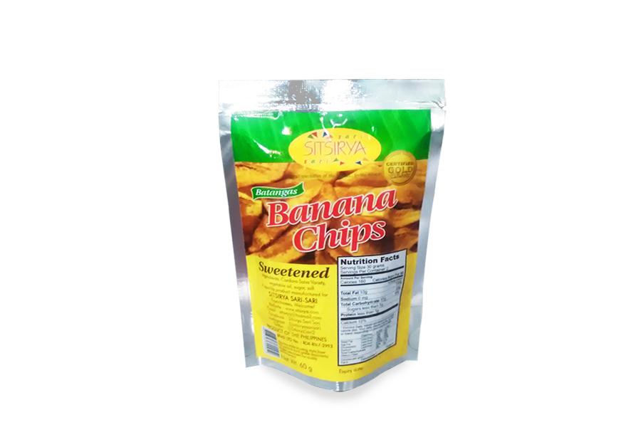 Sitsirya Batangas Banana Chips Sweet pouch (4806526700952) - (In Packs of 3)