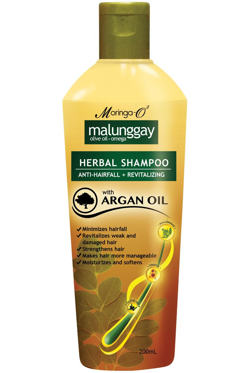 Moringa- O2  Malunggay Herbal Shampoo with Argan Oil (200ml)