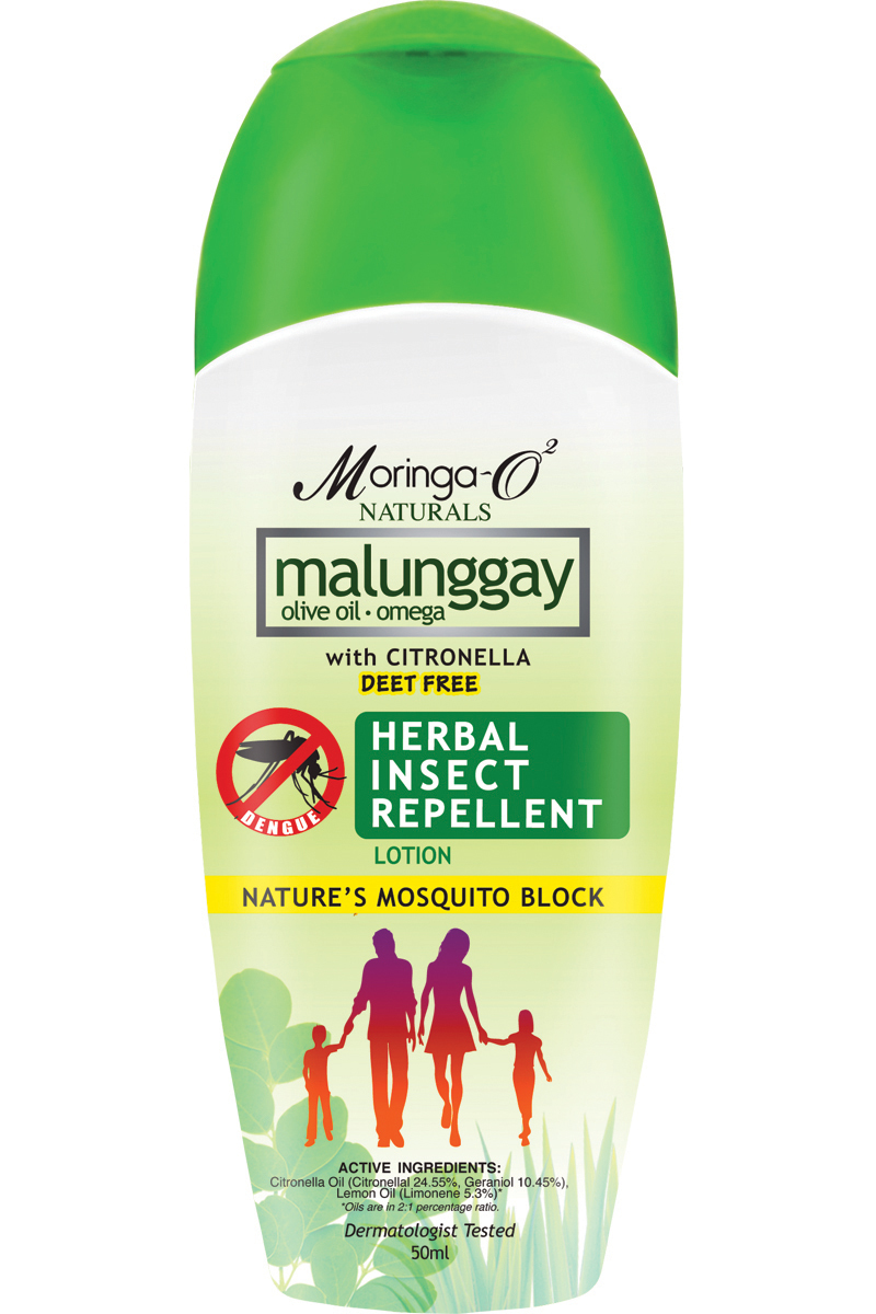 Moringa- O2  Malunggay Herbal Insect Repellent Lotion (50 ml)