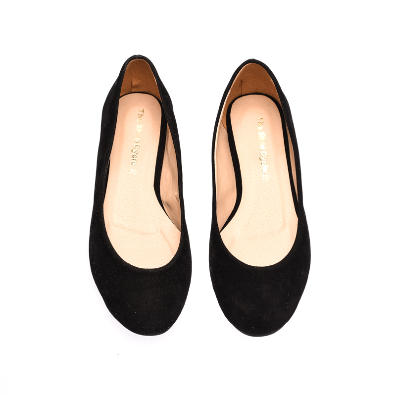 The Shoe Cycle Zia Flats - Black (ZIA 001)