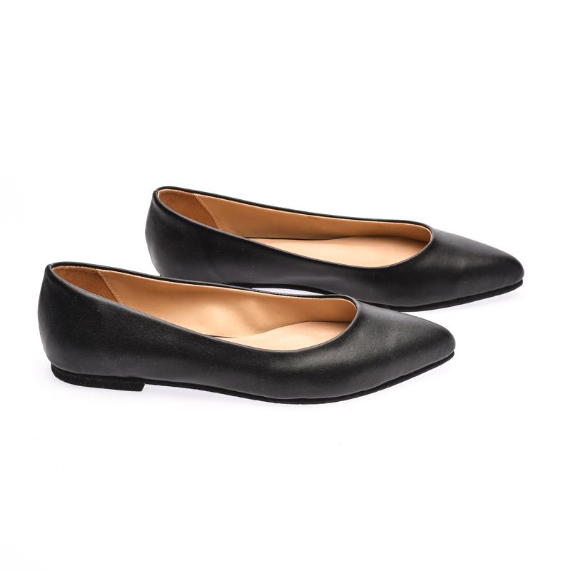 The Shoe Cycle Nixe Flats - Black (NIXE 001)