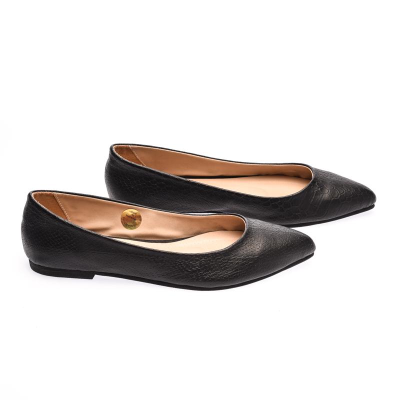 The Shoe Cycle Vimto Flats - Black (VIMTO 002)
