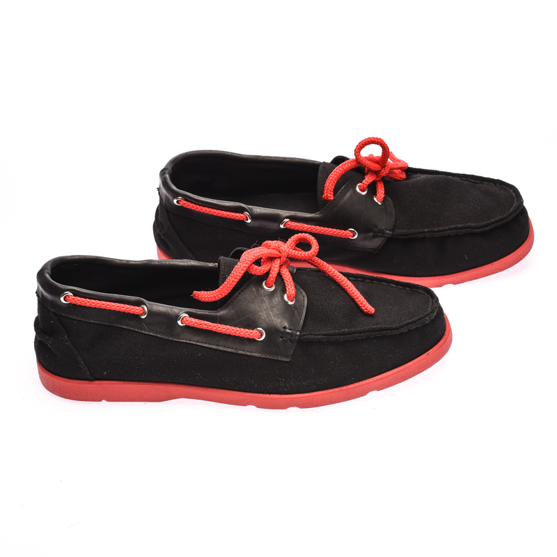 The Shoe Cycle Ariel Boat Shoes  - Red / Black (ARIEL 002)