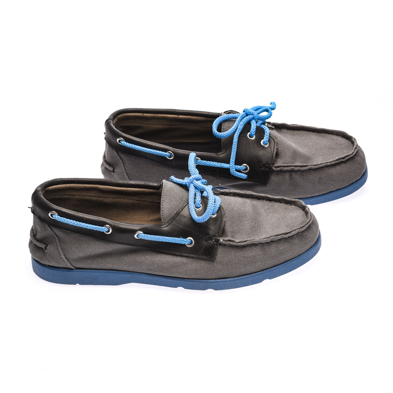 The Shoe Cycle Ariel Boat Shoes  - Blue / Grey (ARIEL 004)