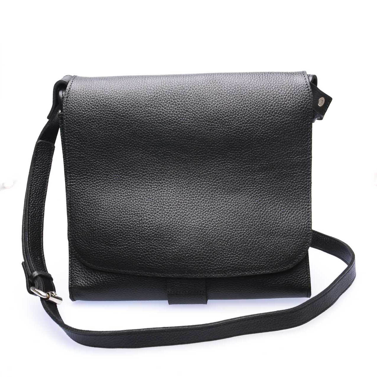 Our Tribe 105 Unisex Leather & Canvas Messenger Bag