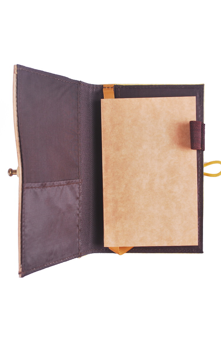 J&L Pinto Mini Journal/Passport Sleeve (Citron Yellow)