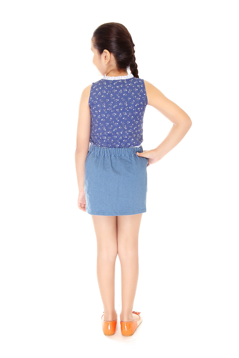 BASICS FOR KIDS GIRLS SKIRT - BLUE (G704535-G704545)