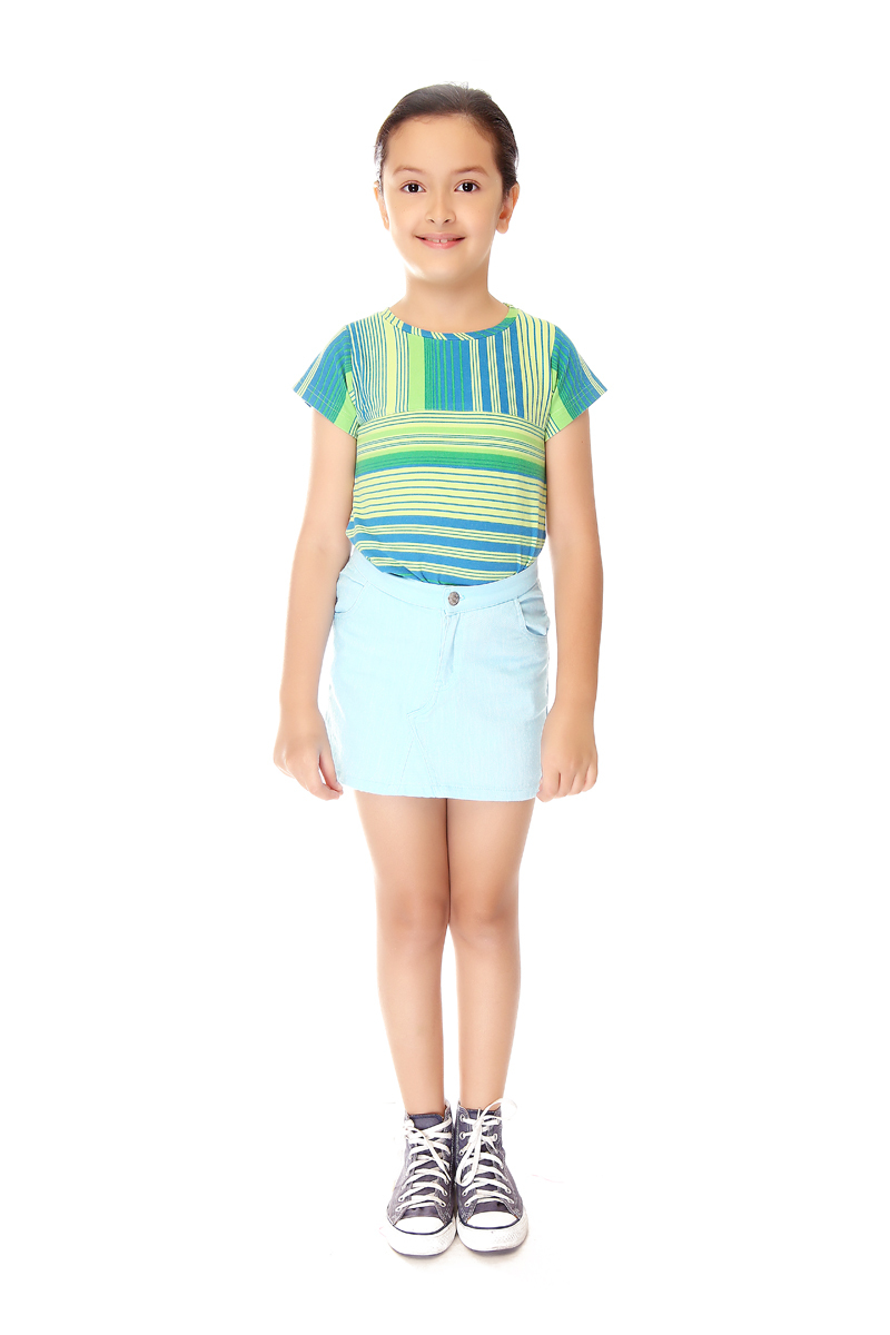 BASICS FOR KIDS SKIRT - LIGHT BLUE (G704575-G704585)