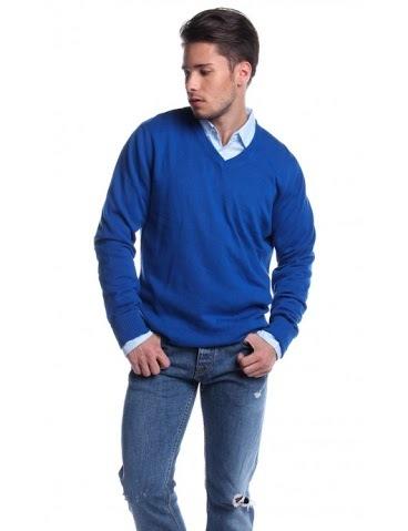 PULL & BEAR MENS LONG SLEEVE SWEATSHIRT CHA13071288 (BLUE)
