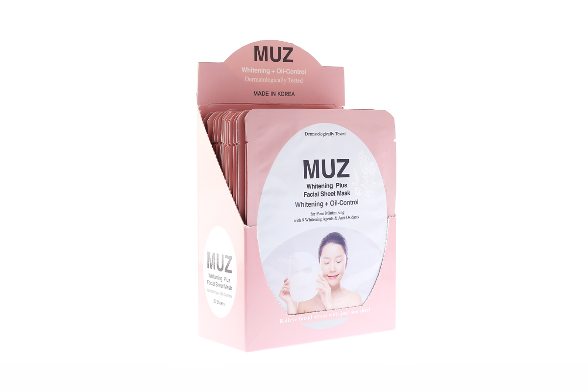 MUZ Facial Sheet (Whitening + Oil-Control)   001-OC + Free DASOM Eyelash Thickening Serum