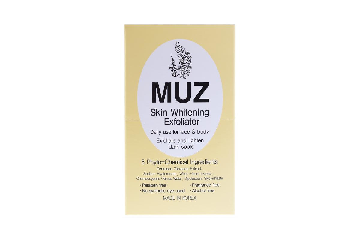 MUZ Skin Whitening Exfoliator 003-EX + Free DASOM Eyelash Thickening Serum