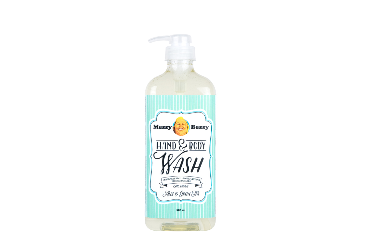 Messy Bessy Hand and Body Wash Aloe Green Tea 500 ml