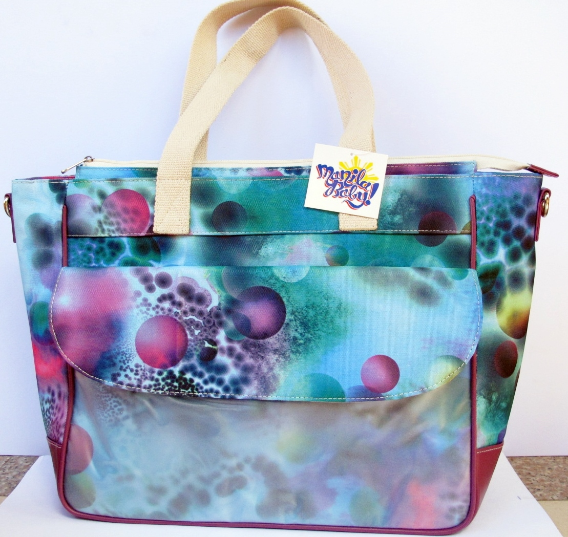 LifeSavers Diaper Bag (Green with Purple Spheres)