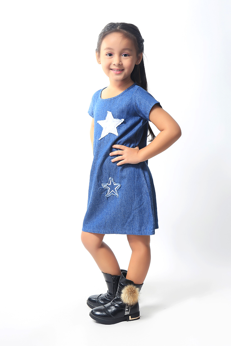 BASICS FOR KIDS GIRLS DRESS - BLUE (G904935-G904945)
