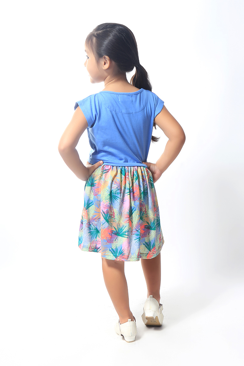 BASICS FOR KIDS GIRLS DRESS - BLUE (G904785-G904795)