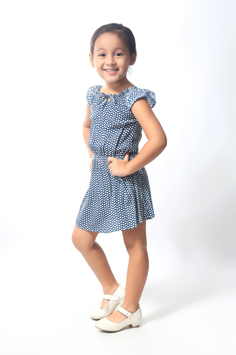 BASICS FOR KIDS GIRLS DRESS - BLUE (G905015-G905025)