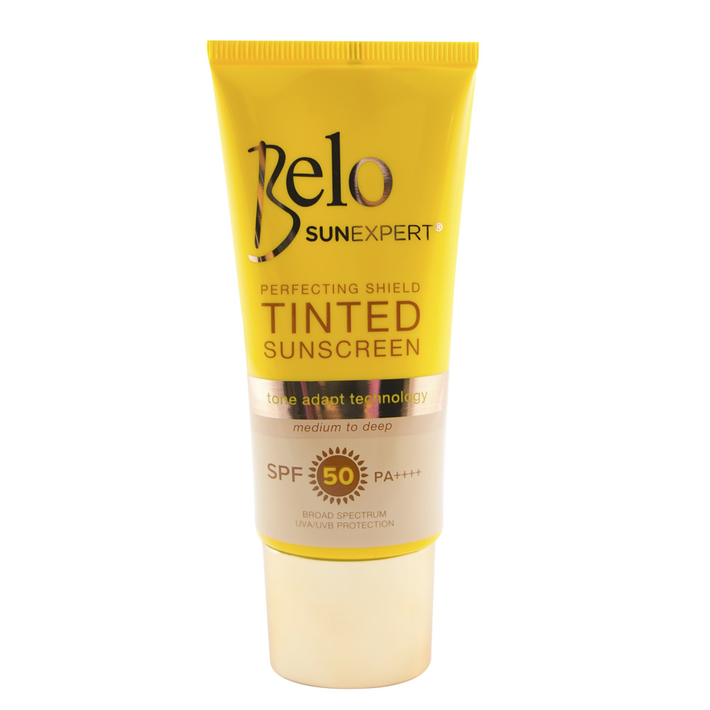 BELO SUN EXPERT PERFECTING SHIELD TINTED SUNSCREEN SPF50 50ML
