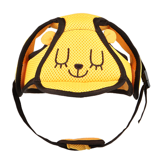 I-ANGEL SAFETY BABY HELMET (YELLOW)