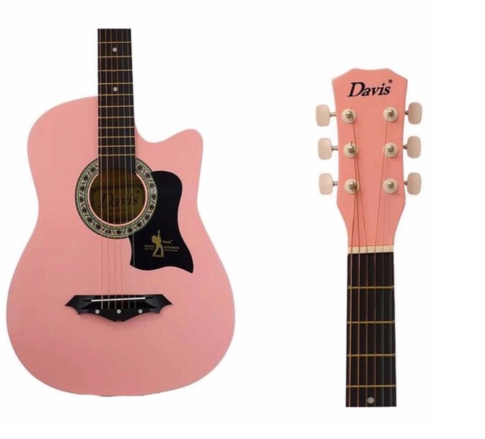 Davis JG-38 Acoustic Guitar (Pink)
