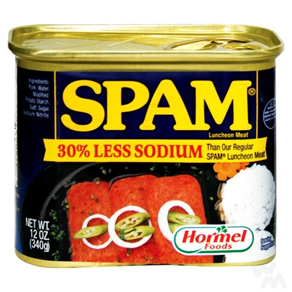 SPAM Luncheon Meat Less Sodium 340g - 37600240345 (1261066)