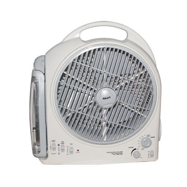 Rechargeable 6-in-1  Portable Fan (Akari AEML-1618)