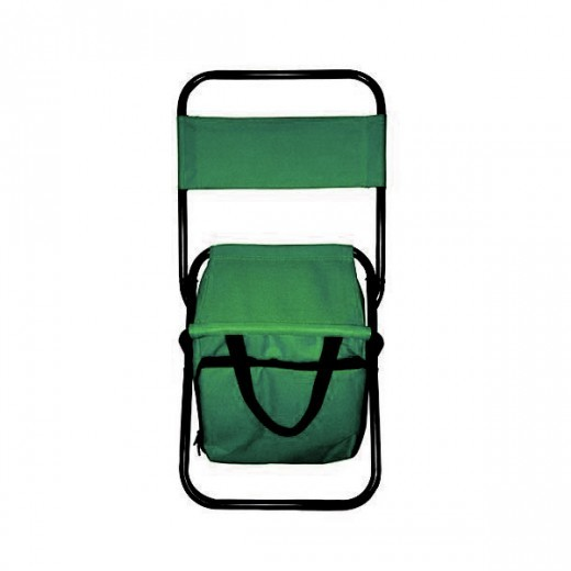 portable folding chair with storage bag green